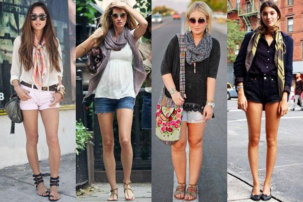 girls wearing scarves