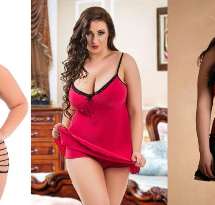 women wearing plus size lingerie