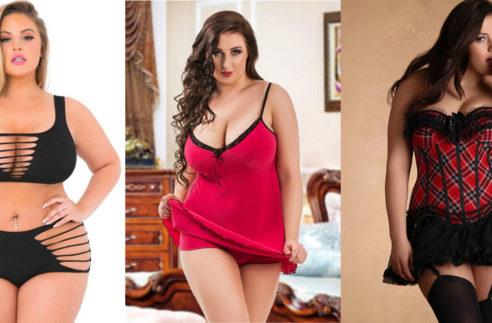 women wearing plus size lingerie