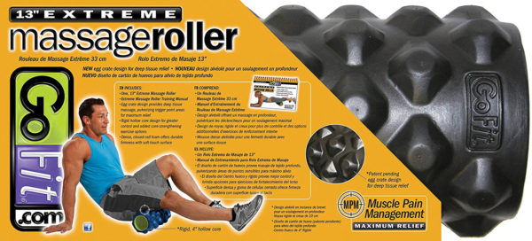 back of package of Gofit Extreme Massage Roller