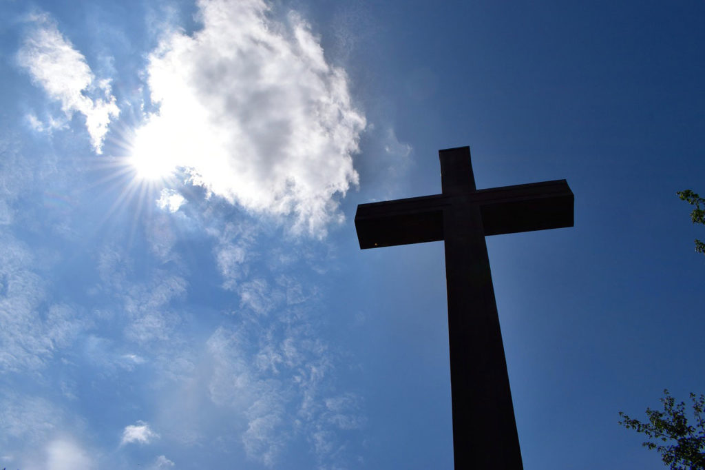 Cross with the sky