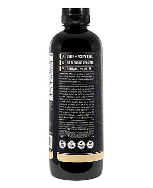 Onnit Emulsified MCT Oil back of the bottle