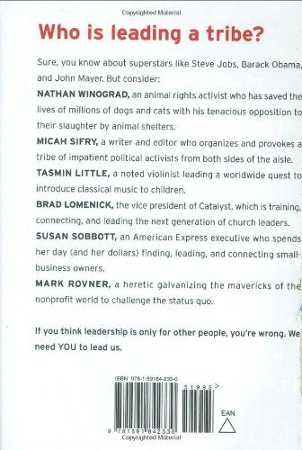 Back cover of Tribes by Seth Godin