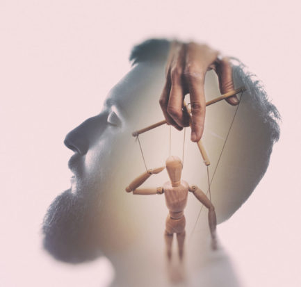 Man's mind being played like a puppet