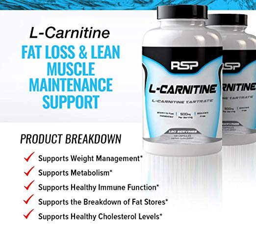 L-Carnitine fat loss and lean muscle maintenance support