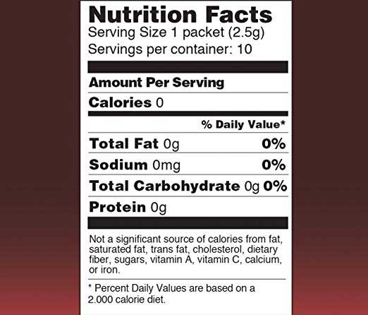 Four Sigmatic nutrition facts