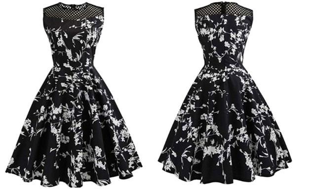 1950s vintage sleeveless dress