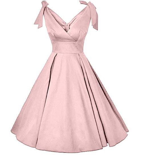 Bow-knot V-neck dress