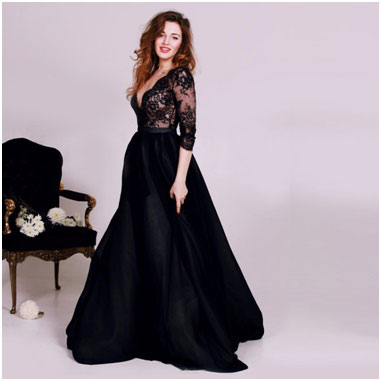busty prom dress