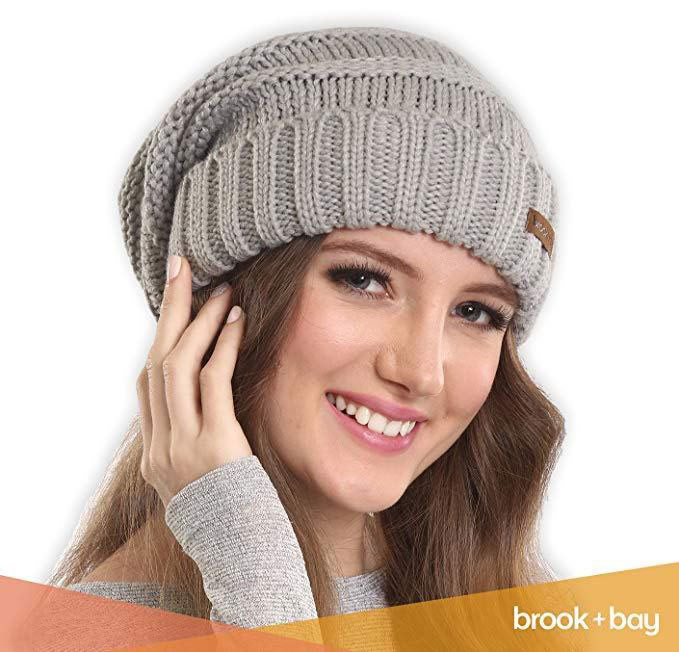 Chunky, Oversized Slouch Beanie Hat
