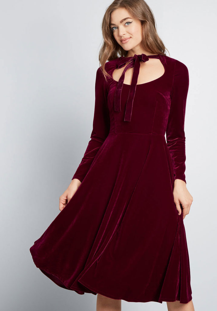 Dancing Queen Velvet Dress By Collectif
