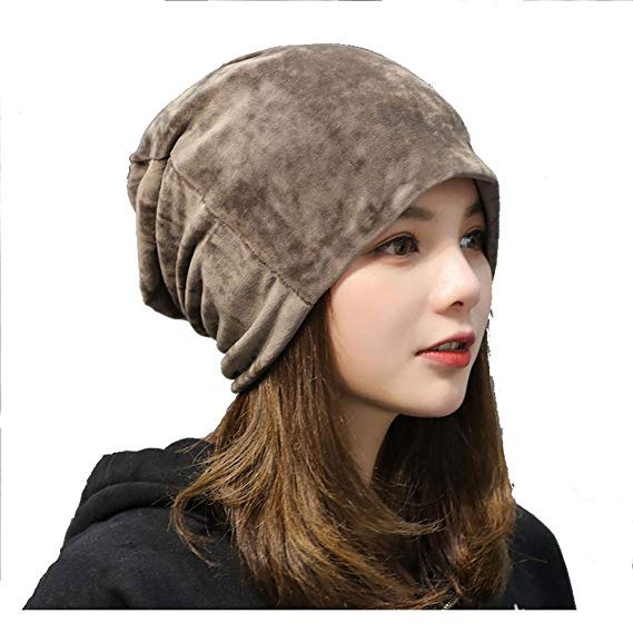 Dream Amy Super Soft Warm Flannel Slouchy Beanie Hat Unisex Trendy Winter Autumn Spring Caroset Cap