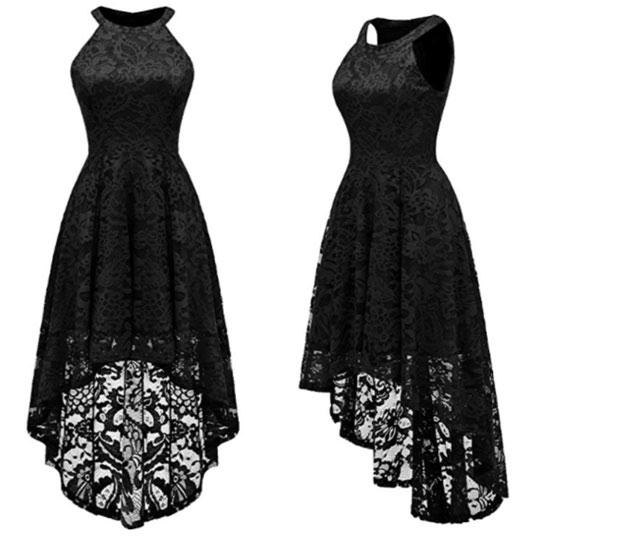 Floral lace cocktail dress