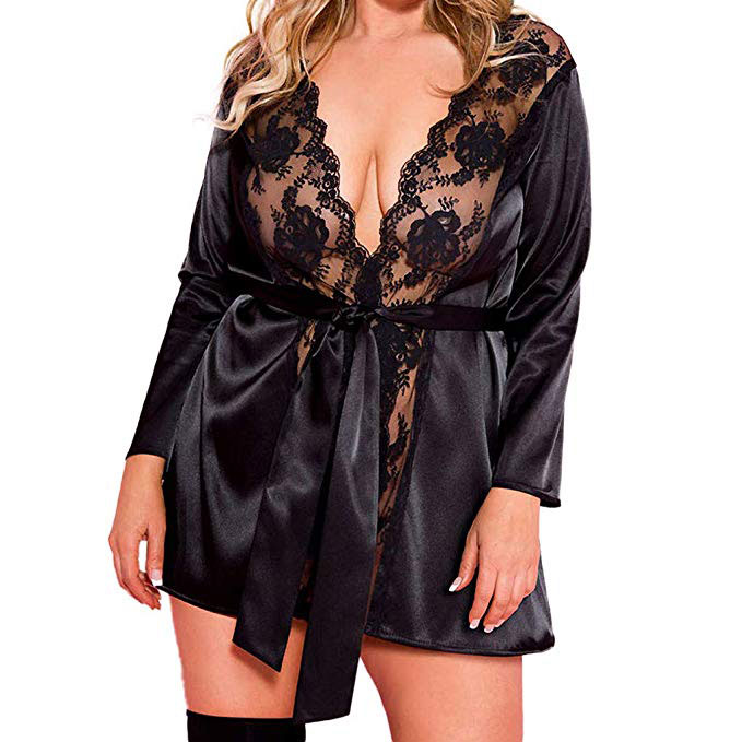 Full Lace Robe with Satin Sash