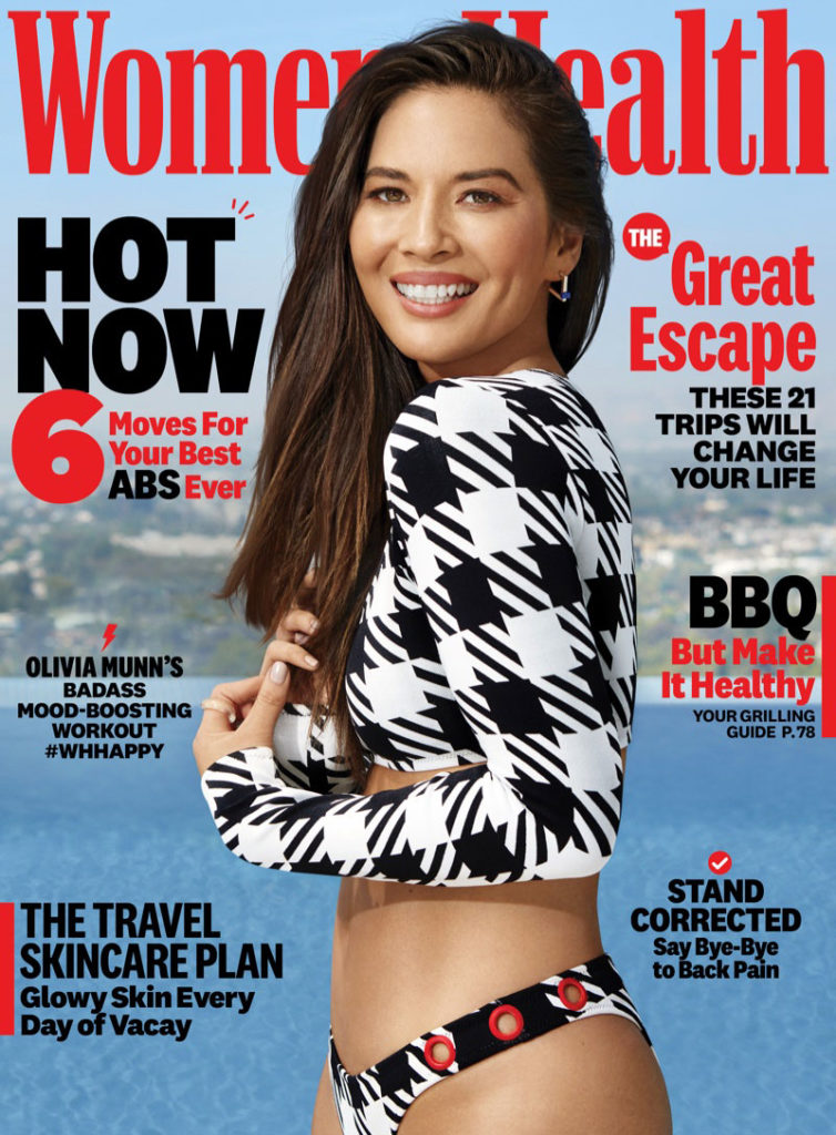 Olivia Munn by Dennis Leupold for Women's Health July-August 2019