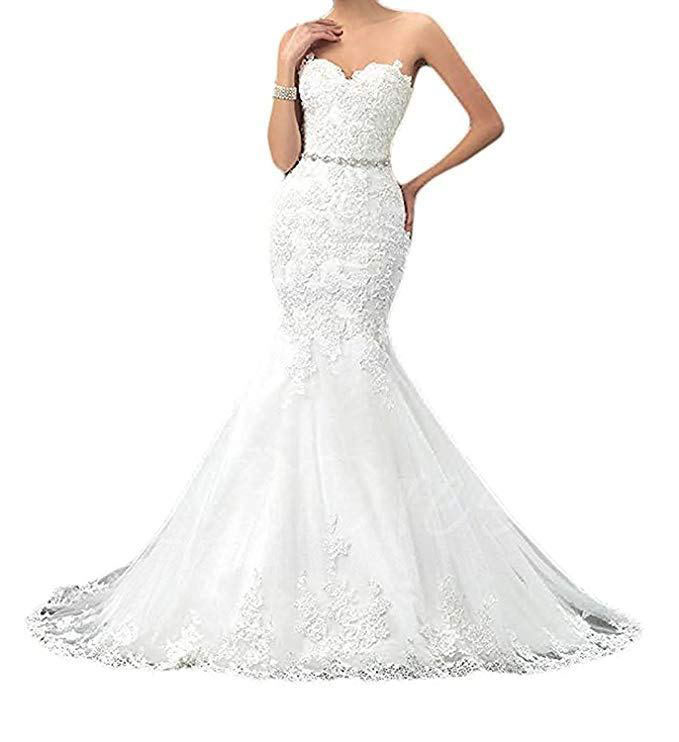 Bridal Dress With A Long Trail