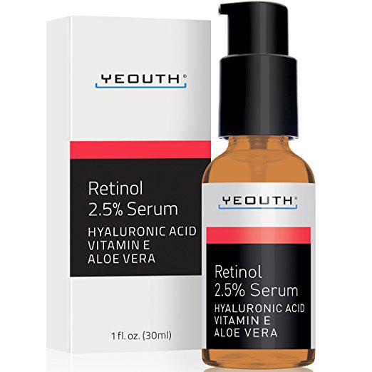 Retinol Serum 2.5% with Hyaluronic Acid, Aloe Vera, Vitamin E