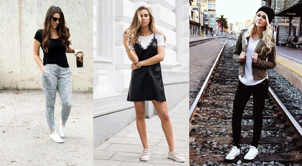 girls wearing a sporty look