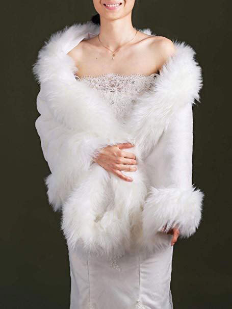 Bridal Faux Fur Stole/Wrap
