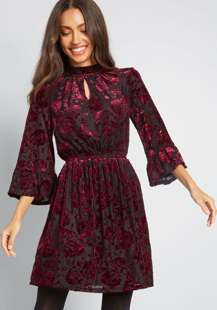 ModCloth's Visionary Mock Neck Dress