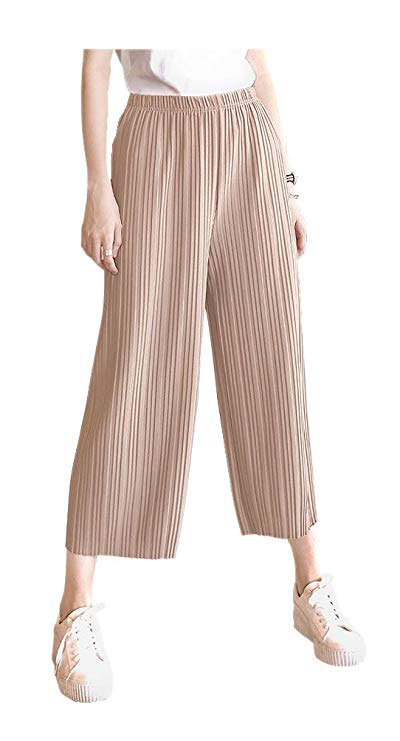 Women's Pleated Palazzo Pants for office