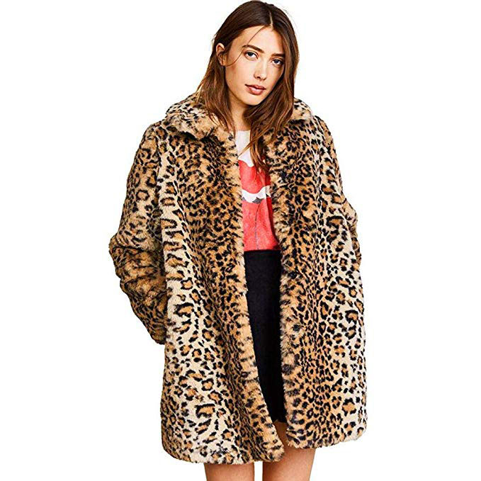 Leopard Faux Fur Overcoat
