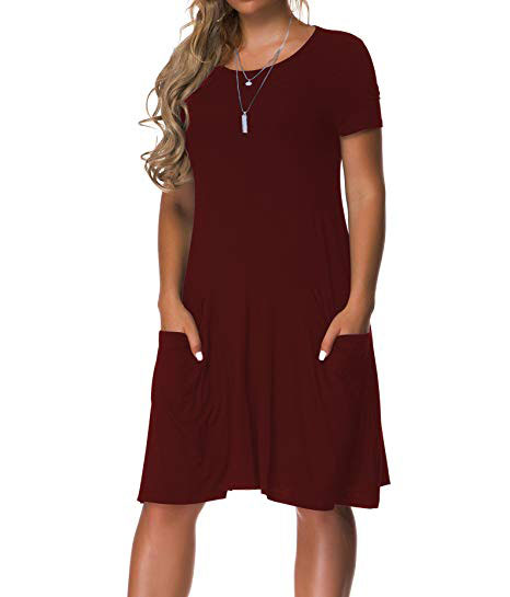 Women's Plus Size Casual Loose T Shirt Mini Dress