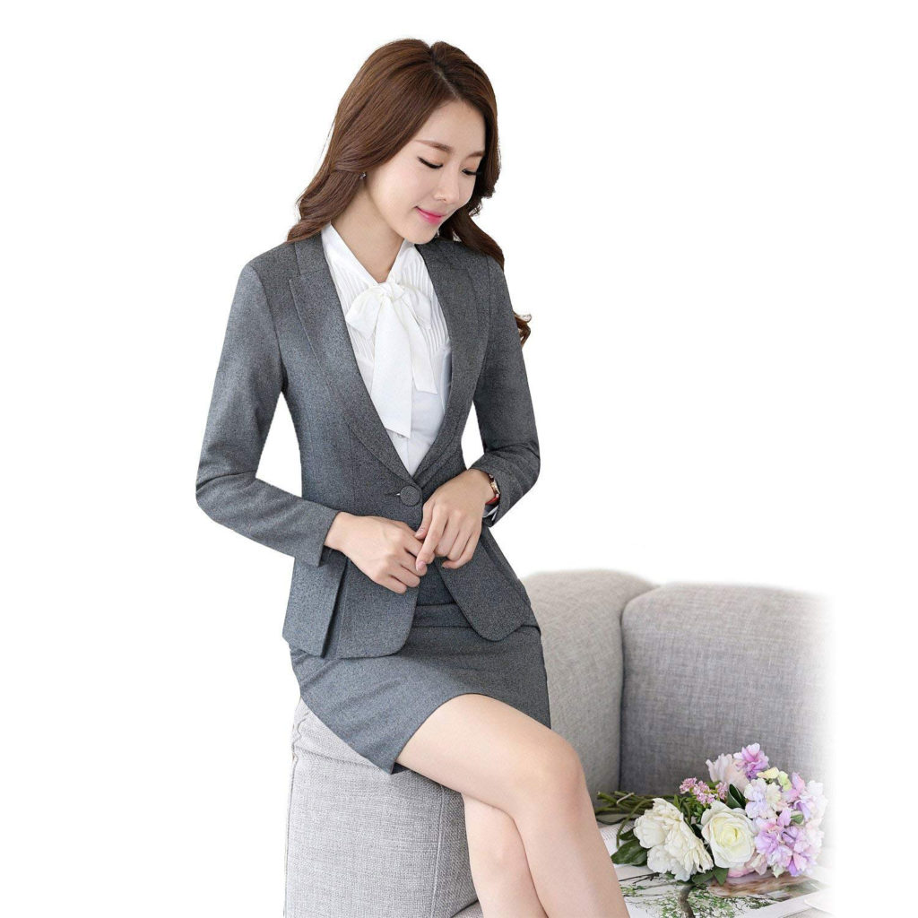 Women's Two Piece Office Lady Blazer Business Suit Set