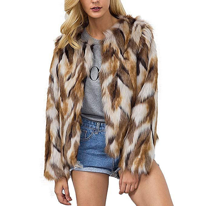 Faux Fur Coat Chic Jacket Cardigan