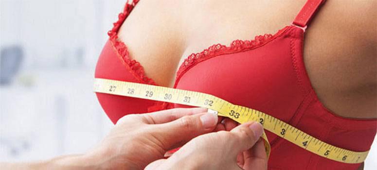 Measuring bra size