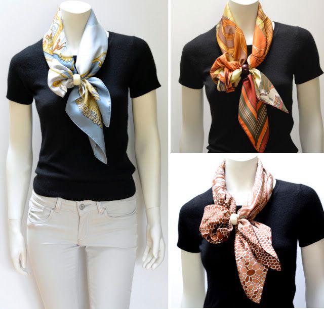 half tie scarf