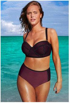 woman with a large bust wearing a bikini