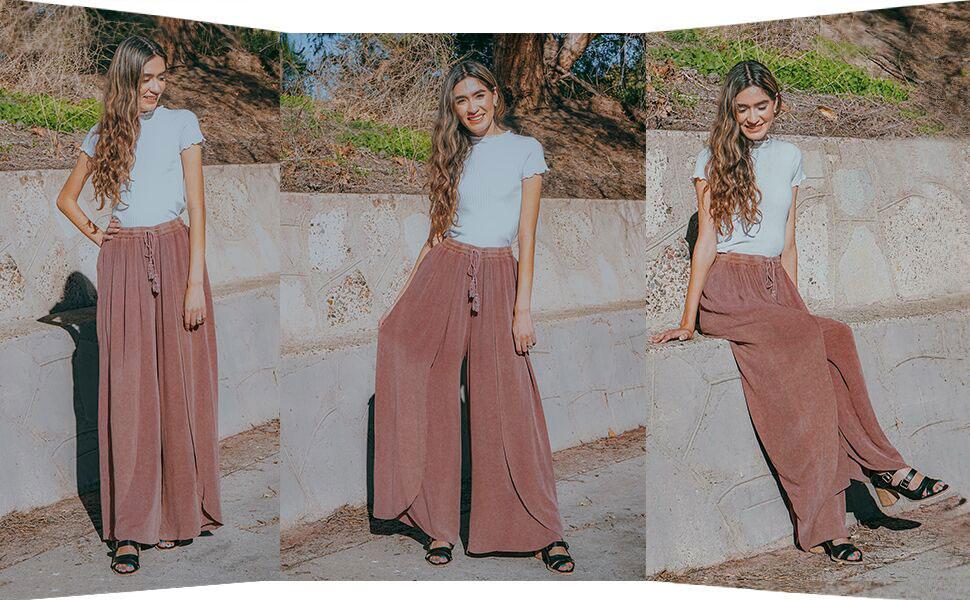 layered palazzo pants