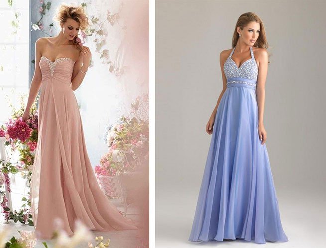 prom dresses for apple shaped women
