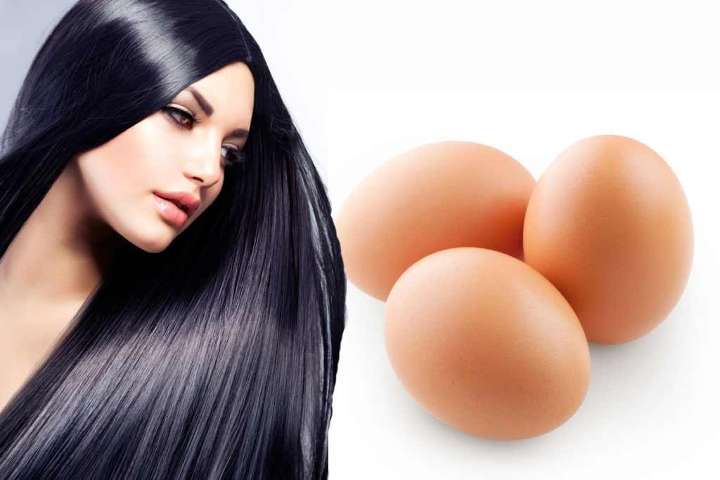 Eggs make hair thicker