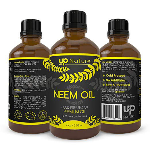 Neem Oil Extract - Neem Oil Spray For Plants, Great for Skin and Hair - Natural Way to Help With Dry Scalp, Dandruff, Acne, Dry Skin - With Dropper (4 oz.)