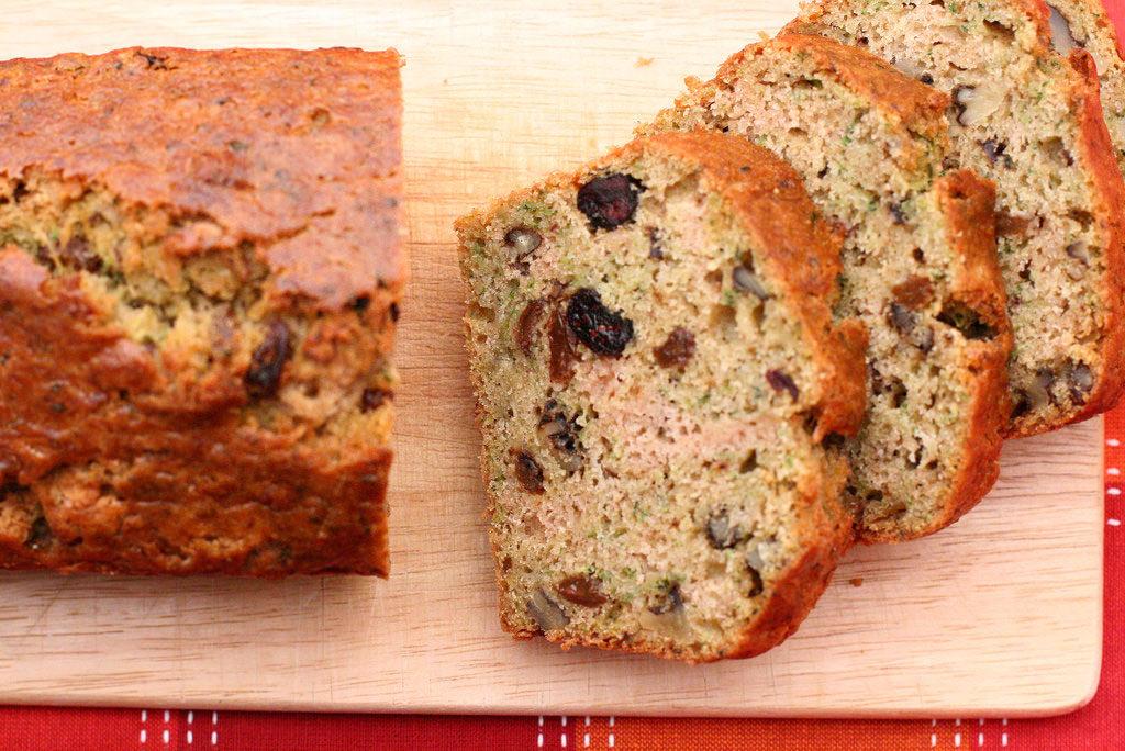 Orange Cranberry Zuccini Bread
