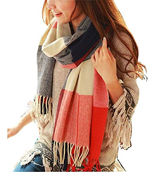 girl wearing a large scarf