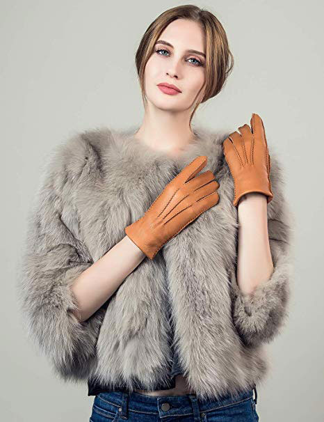 Cashmere Lined Deerskin Leather Gloves