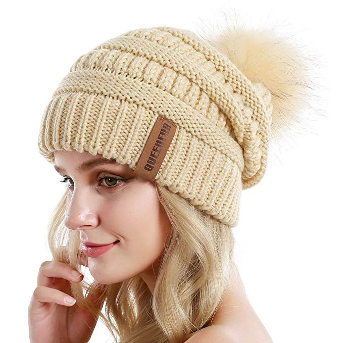 beenie cap with pompom