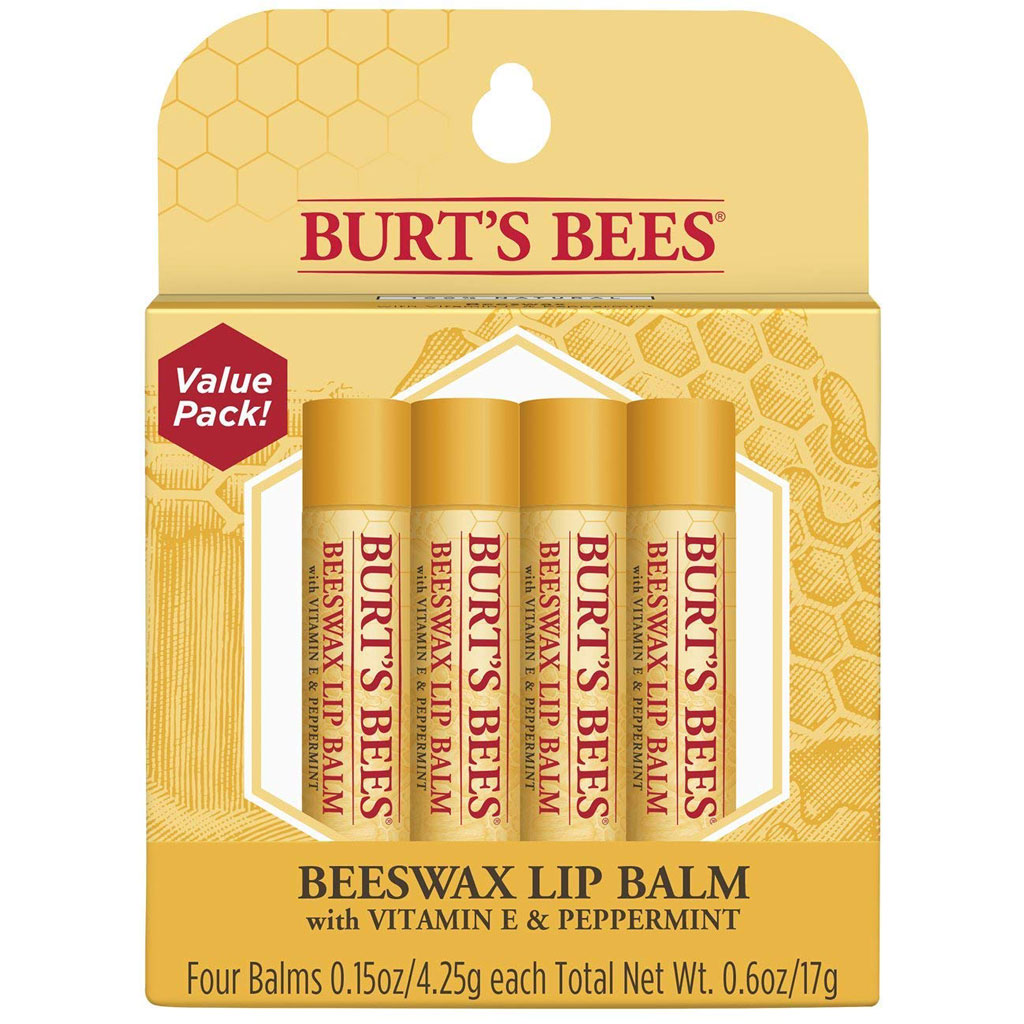 Burt's Bees 100% Natural Moisturizing Lip Balm, Multipack - Original Beeswax, Strawberry, Coconut & Pear and Vanilla Bean with Beeswax & Fruit...
