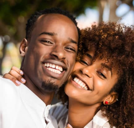 Outdoor Protrait Black African American Couple Stock Photo