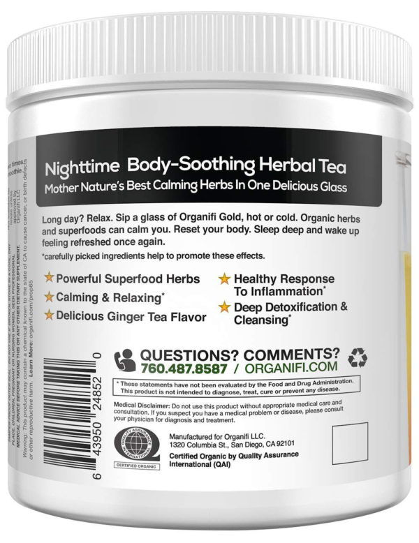 Nighttime body-soothing herbal tea