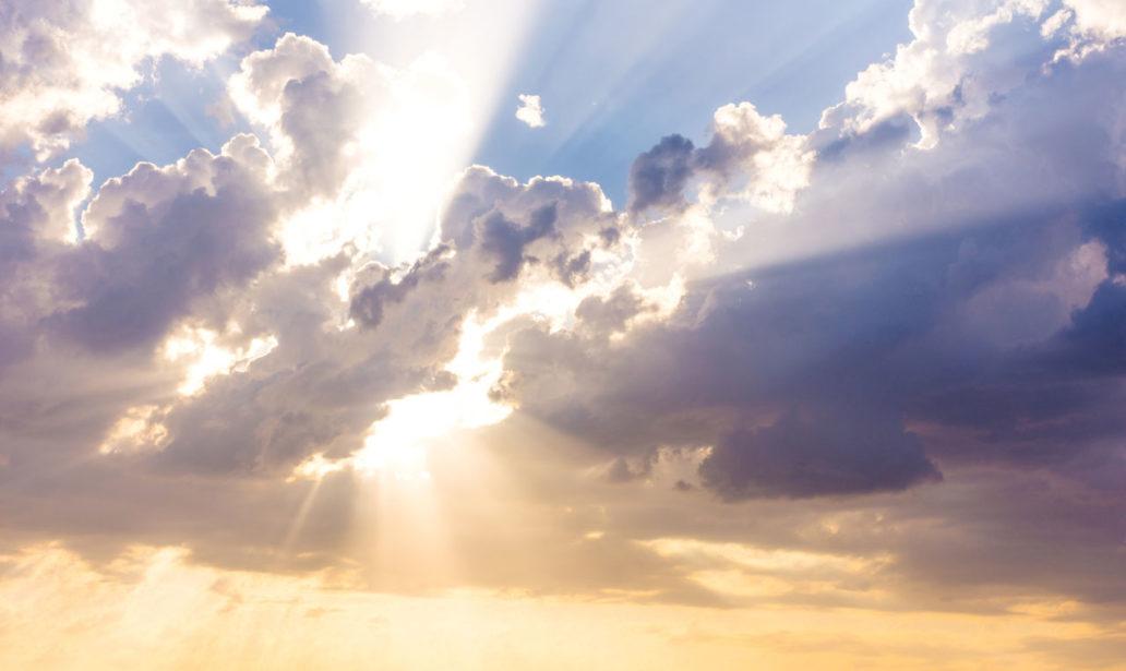 Find Sun Beams Rays Breaking Through Dark stock image