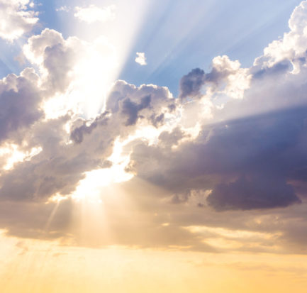 Find Sun Beams Rays Breaking Through Dark stock image