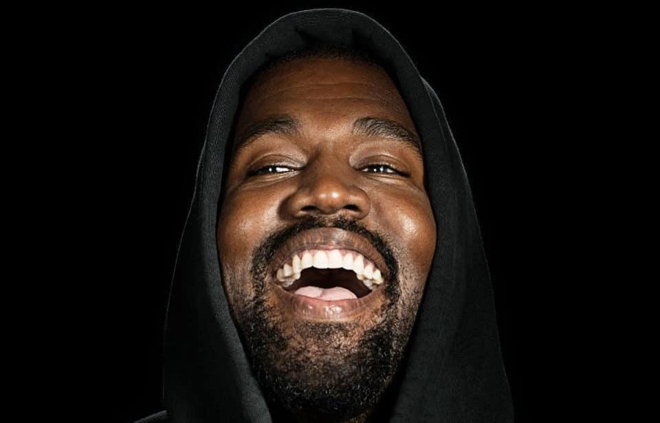Kanye smiling