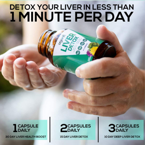Detox your liver in less than 1 minute per day