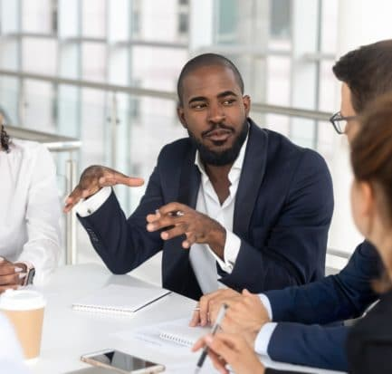 Millennial Employees Gathered Boardroom Training