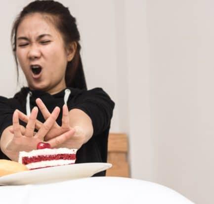 Beautiful Asian Women Stop Eating Time
