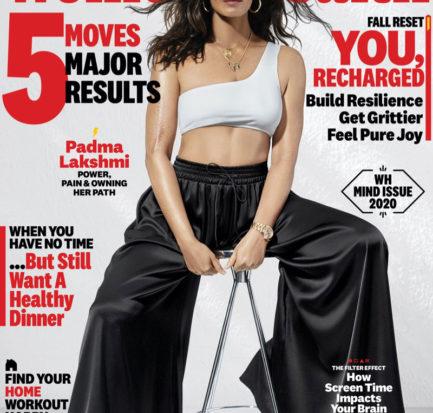 Padma Lakshmi on Women's Health September 2020 Cover.